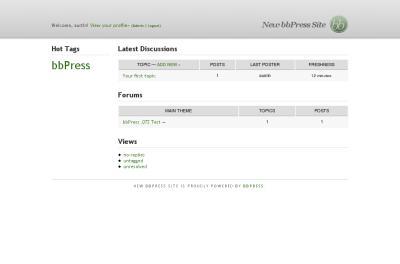 bbPress Screenshot