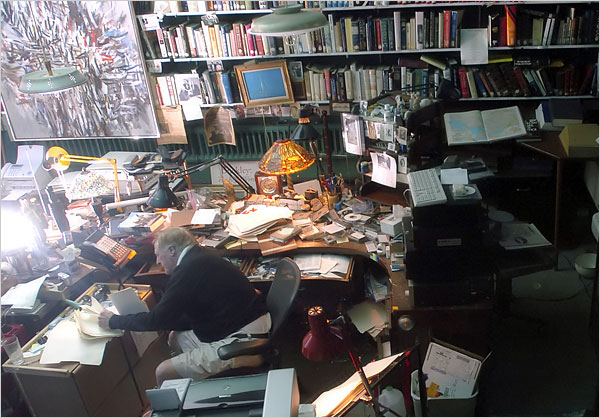 William F. Buckley at his desk