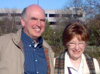John and Rachel Matzko at the Reedy River Bridge, December 2005