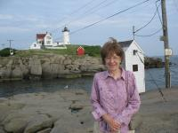Mom at Nubble Lighthouse