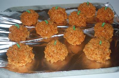 Pumpkin Rice Crispies