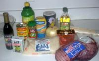 The kebab ingredients (including my substitutions)